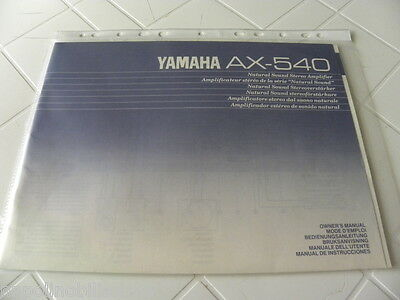 Yamaha AX-540 Owner's Manual  Operating Instructions  New