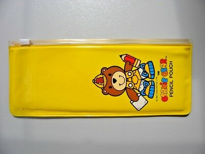 Vintage Bernie Bear pencil case  pochette pencil pouch  X rare '80s  NOS