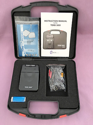 Electric Pulse Digital Massager Tens By Tens 3000 Relieve Back Neck Hip Arm Pain
