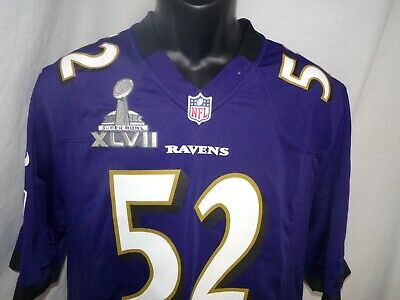f70277eb9 Ray Lewis Sz Med Jersey Super Bowl XLVII 47 Championship Baltimore Ravens