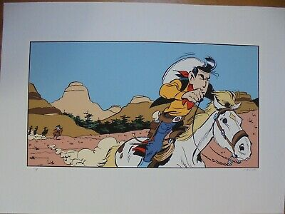 MORRIS SERIGRAPHIE LUCKY LUKE ARCHIVES INTERNATIONALES 55 x 75 N&S NEUF