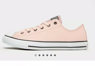 f431960960d2 GENUINE WOMEN CONVERSE peach all star leather ox trainers - £49.99 ...