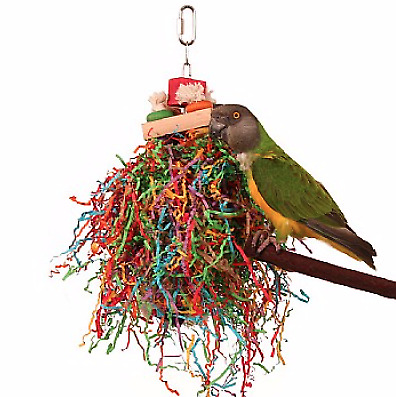Shredding Stack Parrot Toy - For Birds Who Love To Preen And Pull Things Apart