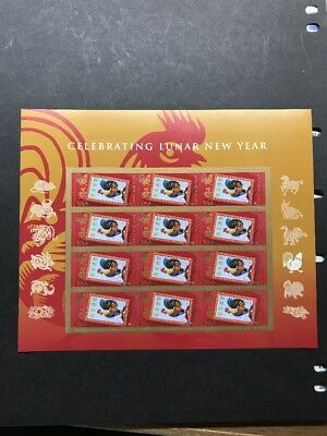 Us 2017 Scott #5154 Chinese Lunar New Year Of The Rooster 12 Forever Stamp Sheet