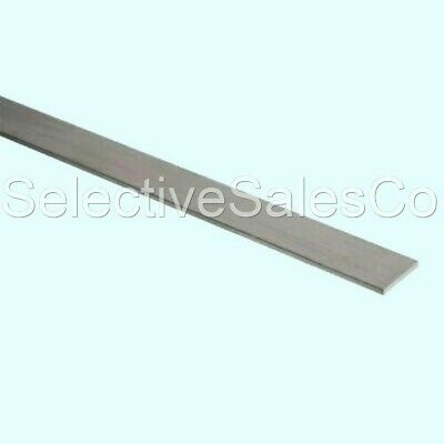 "Stainless Steel Flat Bar Stock  1/8"" x 1/2"" x 6 ft. Rectangular 304 Mill Finish"