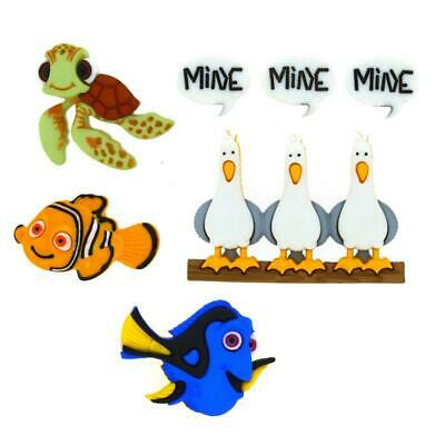 Finding Nemo Buttons - Sew On Disney Embellishment - Dory - Nemo - Crush - Party