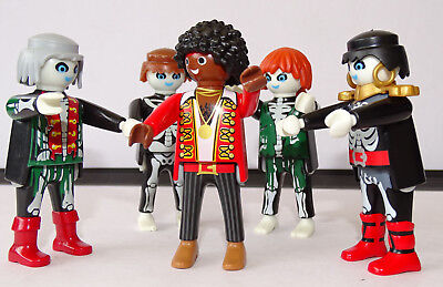 Playmobil Custom Mickael Jackson Avec 4 Personnages Remake Thriller f80f48eb9d4