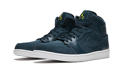 45a1ff4cce2d Nike Air Jordan 1 Mid Basketball Shoes Blue White Yellow 554724-421 Men s  NEW