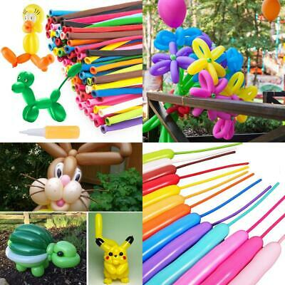 (200 pcs, Multicolour) Modeling Balloons Animal MOOKLIN Magic Long with...