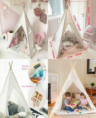 Tiny Land Kids Teepee Children Play Tent with Floor Mat & Carry Case for...