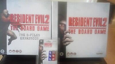 RESIDENT EVIL 2 The Board Game with the B-Files Expansion + extra dice pack  New