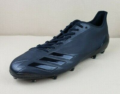 low priced 5932a 0dd1f Adidas Adizero 5-Star 6.0 Black Football Cleats BW0697 Men s Size 15