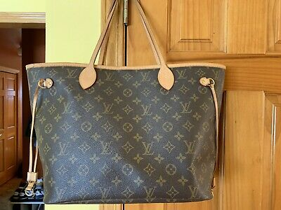 6ee34dd6bcce Gently Used Genuine Louis Vuitton Neverfull MM Monogram Tote w   Receipt Dustbag
