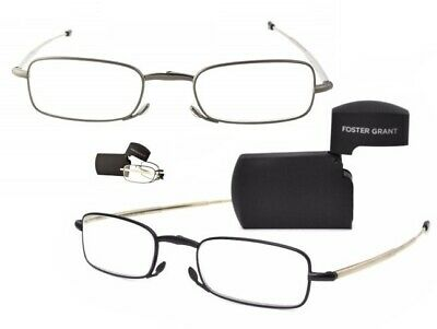 5fc9c0395d1 BOGO Folding Foster Grant Reading Glasses Gideon +1.25 to +3.25 Please  Read... BUY 1 GET 1 FREE