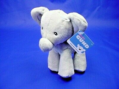 "Baby Gund Safari Rattle  "" Bubbles"" Gray Elephant  5"" New with tags           G1"