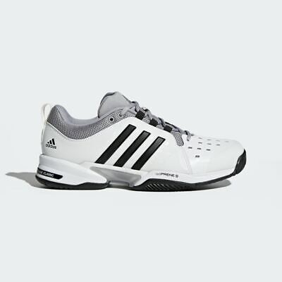 8308c89f5acdec Mens Adidas Barricade Classic Wide 4E White Grey Mens Tennis Shoe MULTIPLE  SIZES