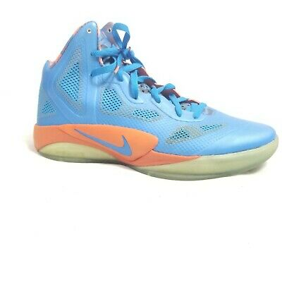 e76730757eb5 Nike Zoom Mens Hyperfuse 2011 Russell Westbrook Blue Orange Basketball  Shoes 11
