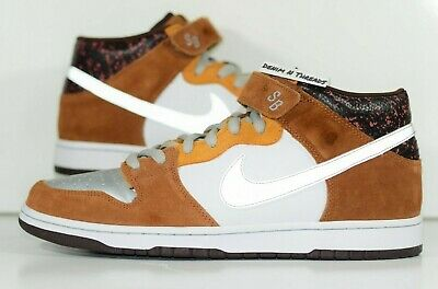 new style 14178 826a2 2008 NIKE DUNK SB Mid FENDER Base 3m Flash Gold Box Size 12 Authentic  314383-102
