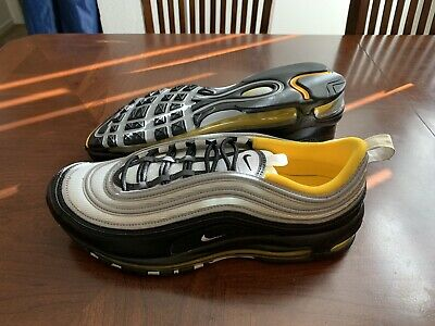 NIKE AIR MAX 97 Steelers Black White Amarillo Sneakers Size 11.5 921826 008