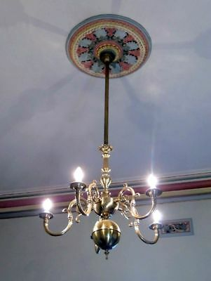 Quality Repro Period Brass French Flemish Ceiling Light Chandelier Candelabra