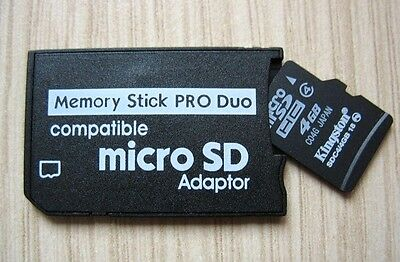 Micro SD SDHC TF to Memory Stick MS Pro Duo Reader PSP Adapter Converter OZ