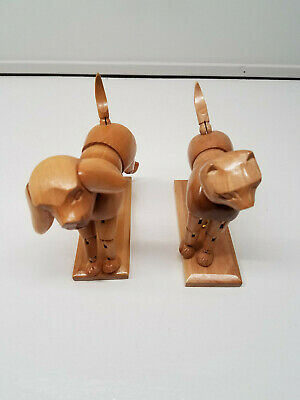 Wooden Posable Dog and Cat Posable Jointed Mannequins Artist Sculpture ART