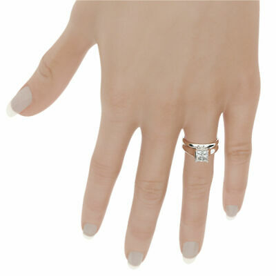 Solitaire Vs1 1.16 Ct Diamond Matching Band Set Ring 14K White Gold Flawless