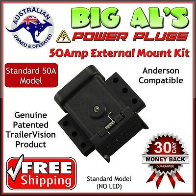 50A Trailervision External Mounting Mount Kit Cap Cover Suits Anderson Plug 50 A