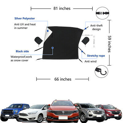 Car Windscreen Windshield Magnetic Cover Wiper Protector Exterior Shield Guard