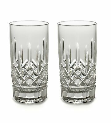 Waterford Crystal Lismore High Ball Tumblers Glasses Pair, 12-Ounce