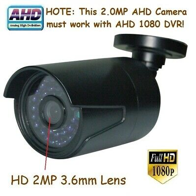 """Sunvision AHD 2.0MP 1080P 1//3/"""" CMOS In//outdoor Camera 36IR 2MP 3.6mm Lens 157B"""