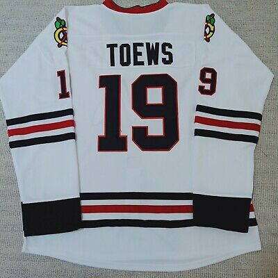 separation shoes da04d 677f6 JONATHAN TOEWS PREMIER Ice Hockey Jersey #19 Chicago BlackHawks white red  S~XXXL