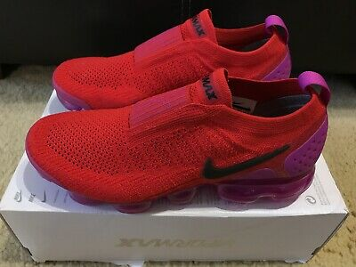 b1820c8cd3 NIKE AIR VAPORMAX FLYKNIT MOC 2 WOMEN'S sz 9.5 UNIVERSITY RED-BLACK AJ6599- 600