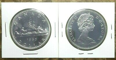 Canada 1965 Type 1 UNC Proof Like Silver Dollar!!