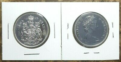 Canada 1965 UNC Proof Like Silver Fifty Cent Piece!!