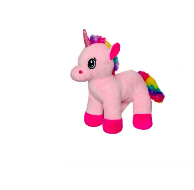 Eva Rainbow Unicorn Pink (23cmHT) NEW STUFFED PLUSH TOY