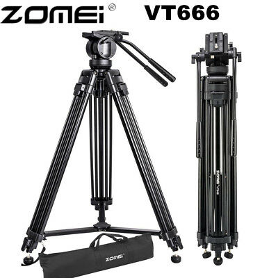 ZOMEI VT666 Professional Heavy Duty DV Camcorder Camer Tripod Stand Fluid Head B