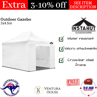 Outdoor Gazebo 3x4.5m Marquee Wedding Party Event Folding Tent Instahut - White