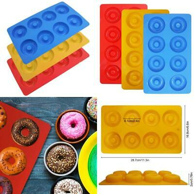 3 Pack Silicone Donut Molds, YuCool 8 Cavity Non-Stick Safe Baking Tray...