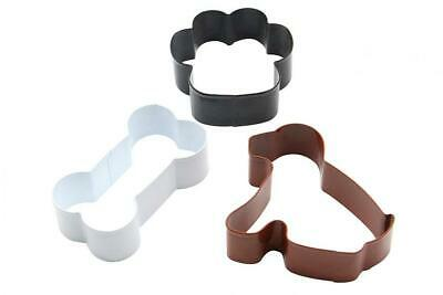 ShengHai Dog Cookie Cutter Set - 3 Piece - Dog, Paw Print and Bone Stainless...