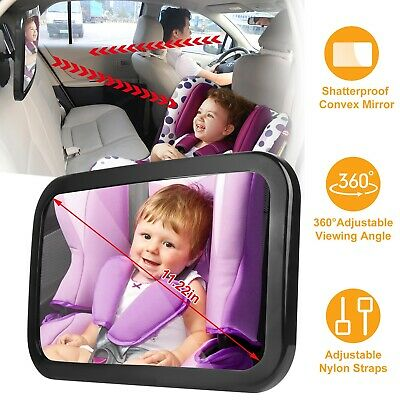 Baby Mirror Back Car Seat Cover for Infant Child Toddler Rear Ward Safety View A