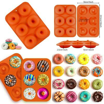 EQLEF Donut Baking Tray, 6 Grids Silicone Bake Mold Use for Making Doughnut...