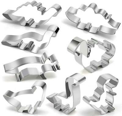 Dinosaur Cookie Cutter Set – Joyoldelf 8 Pcs Biscuit Stainless Steel Mould...