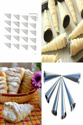 Cream Horn Shapers Forms Baking Mould Set 20 Pieces