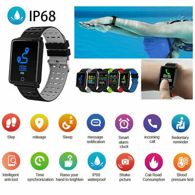 Sports Waterproof Smart Watch Heart Rate Monitor Bracelet Wristband for Android