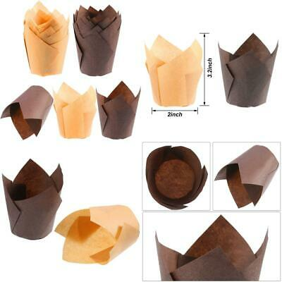 200 Pieces Tulip Cupcake Liner Baking Cups Paper and Muffin for Weddings...