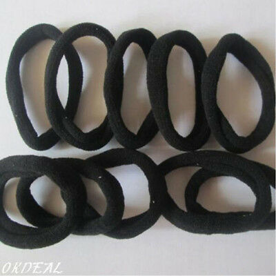 Black 10PCs Women Girl Elastic Hair Ties Band Rope Ponytail Bracelets  Scrunchie