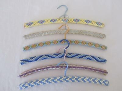 Bulk Lot RETRO Vintage Plastic Cord Wooden COAT HANGERS Handmade Craft C