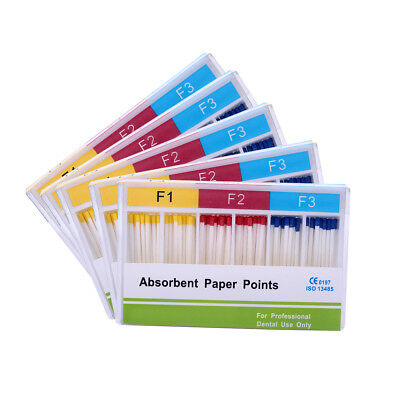 Dental 5Box Absorbent Paper Points F1-F3 For Use Root Endodontics AZDENT UK Site