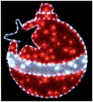 Xmas Bauble Outdoor Red & White Flashing Led Lights (60x Bulbs) Decoration